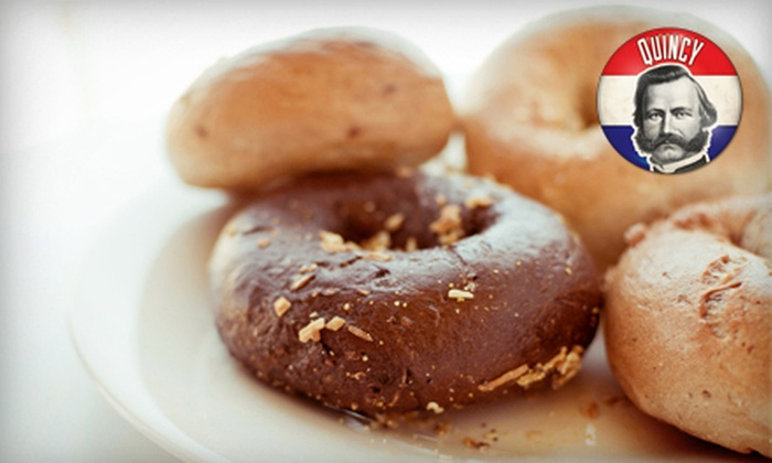 What A Bagel - White Plains: One or Two Dozen Bagels with Cream Cheese at What A Bagel (Up to Half Off)