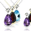 Up to 80% Off Gemstone Teardrop Pendants and Earrings