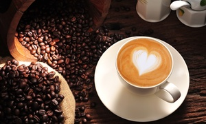Java Crave Caffe: 5- or 10-Visit Punch Card for Coffee and Pastries at Java Crave Caffe (Up to 58% Off)
