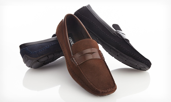 $27.99 for Adolfo Men's Shoes in Black, Brown, or Navy. Free Shipping