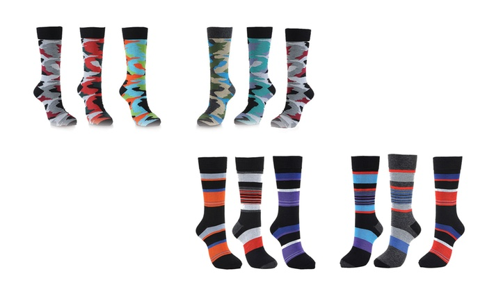 Men's Cotton Dress Fashion Socks (6-Pack)