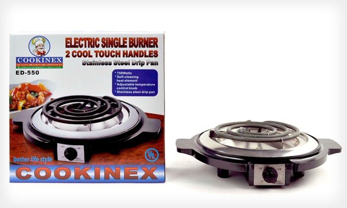 Electric Cooking Burner with Cool-Touch Handles: Electric Cooking Burner with Cool-Touch Handles. Free Returns.