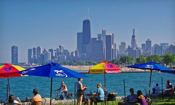 Fullerton Beach Grill - DePaul: $15 for Barbecue and Beer for Two at Fullerton Beach Grill (Up to $32 Value)