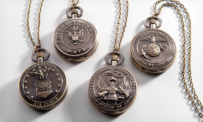 "Strada Military Pocket Watch with Chain: $8.99 for a Strada Air Force, Army, Marines, or Navy Pocket Watch with 32"" Chain ($75 List Price). Free Returns."