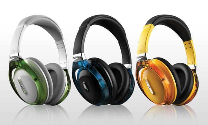 MiiKey Rhythm NFC Bluetooth Headphones: MiiKey Rhythm NFC Wireless Bluetooth Headphones in Black, White, or Yellow. Free Returns.