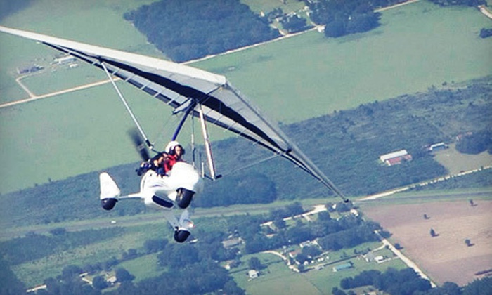 Silver Lining Aviation - Allegan: $145 for a 30-Minute Introductory Powered-Hang-Glider Flight at Silver Lining Aviation ($366 Value)