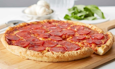 Pizza, Pasta, and Subs from Peteys Pizza (Up to 43% Off). Three Options Available.