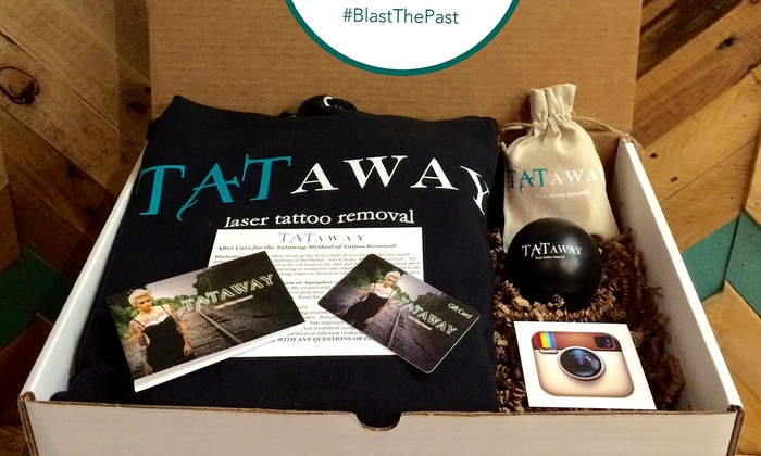 """Tataway - Downtown: $209 for One """"Give the Gift of No Regret"""" Tattoo Removal Box from Tataway ($400 value)"""
