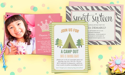 "40, 75, or 110 Custom 5""x7"" Flat Invitations & Announcements with Envelopes from $24.99–$44.99 from Zazzle"