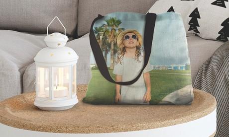 1, 2 o 3 bolsas de tela con imagen personalizable de 40 x 40 cm con Photo Gift (hasta 86% de descuento)