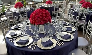 Mikasa Fine Linens: Linens, Furniture, and Decor Rental from Mikasa Fine Linens (50% Off). Two Options Available.