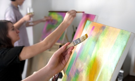 Painting Class for One or Two with a Glass of Wine or Beer at Sip Dip-n-Doodle (Up to 40% Off)