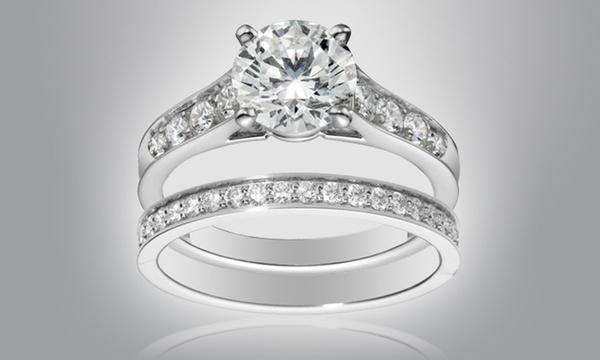 2 Bagues (Solitaire et Alliance) Luxury Crystal Swarovski Elements et  Bracelet Rivière dès 14,90€ (jusqu'à -82%)