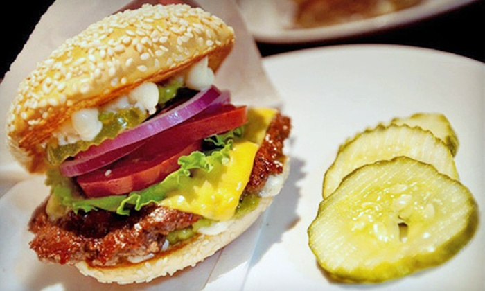 The Boom Burger - Multiple Locations: Burgers, Cupcakes, Fries, and Drink for Two or Four at The Boom Burger (51% Off)