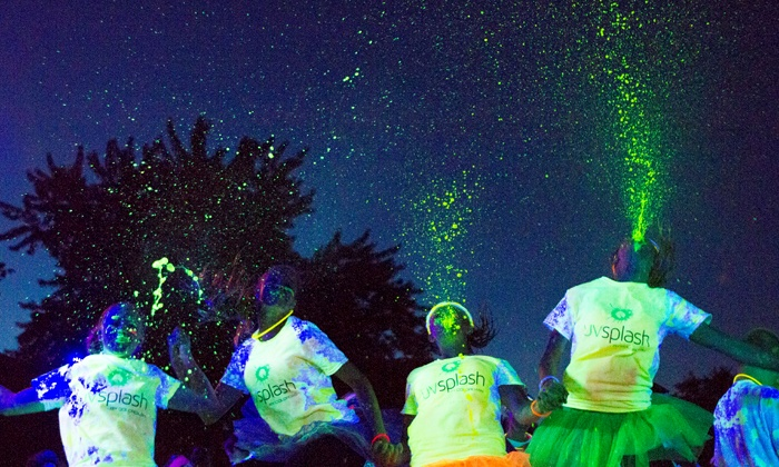 UV Splash Color Dash - Civic Center: Entry in 5K Race for One, Two, or Four at UV Splash Color Dash on Friday, September 19 (Up to 45% Off)