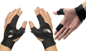 Multipurpose and Camping Gloves with LED Flashlights