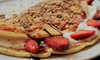 Belgischer Pfannkuchen und Kaffee