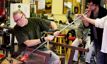 $75 for Vase Glassblowing Workshop  at The Industrial Art Center of Gulfport ($150 Value)