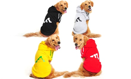 From $12 for Cotton Large Dog Sweatshirt with Hoodie