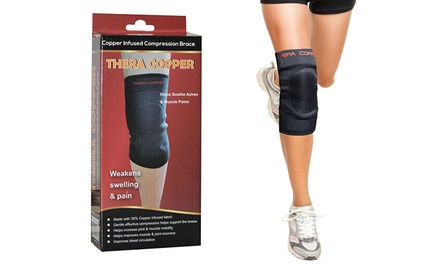 TheraCopper Copper-Infused Compression Knee Brace