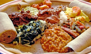 Blue Nile Cafe: Ethiopian Meal for Two or Four at Blue Nile Cafe (53% Off)