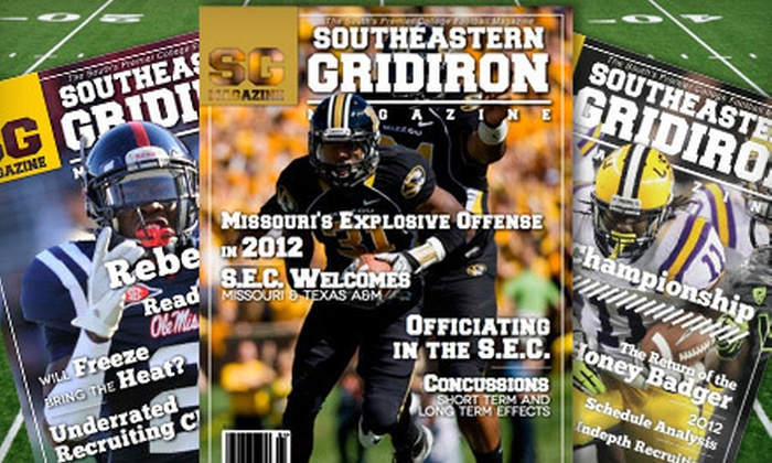 """Southeastern Gridiron Magazine - Springfield MO: One-Year Silver or Gold or Two-Year Gold Subscription to """"Southeastern Gridiron Magazine"""" (Up to 75% Off)"""