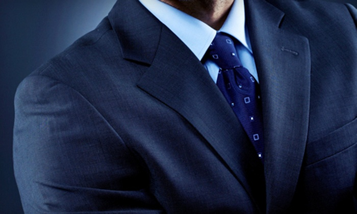 Black Tie Formalwear - Multiple Locations: $499 for a Custom-Tailored Suit with Silk Ties and Michael Kors Shirts at Black Tie Formalwear ($1,119 Value)