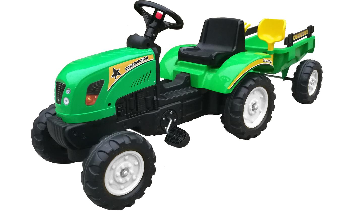 Kid's Ride-On Tractor with Trailer and Accessories With Free Delivery