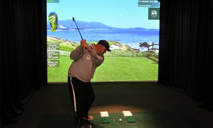 Canton Indoor Golf Center - Canton: Virtual-Golf Packages for Up to Four People at Canton Indoor Golf Center (Up to 62% Off). Three Options Available.