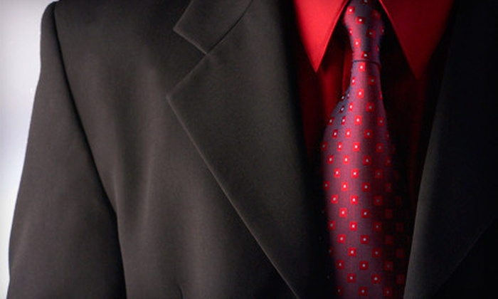 Bunbury Custom Clothiers - Glenwood South: Custom Suit Package with a Shirt and Tie or Four Custom Dress Shirts at Bunbury Custom Clothiers (Up to 65% Off)