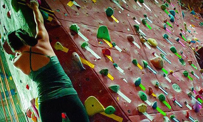 Touchstone Climbing at Pipeworks - Central Sacramento: $75 for One Month of Unlimited Climbing with Gear Rental and an Introductory Class at Sacramento Pipeworks ($269 Value)