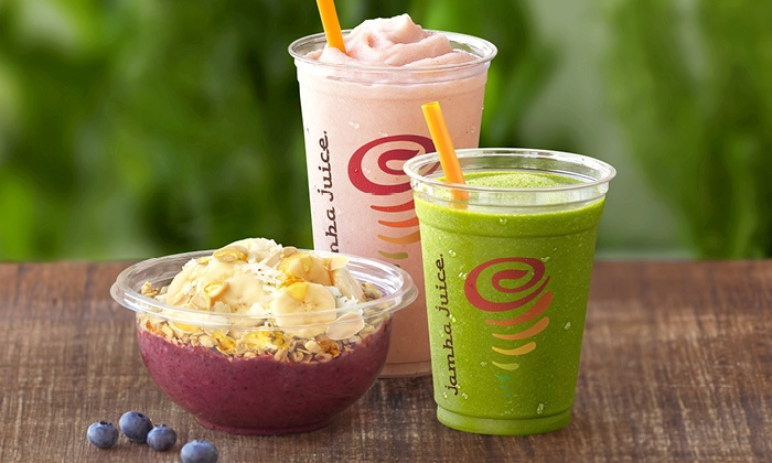 Jamba Juice - Denver: Three or Five Groupons, Each Good for One Smoothie, Juice or Energy Bowl at Jamba Juice (Up to 43% Off)