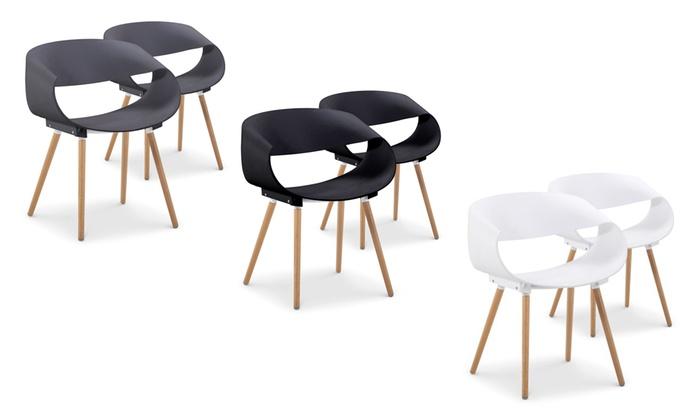 lot de 2 chaises scandinaves groupon shopping