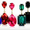 18K Gold-Plated Crystal Earrings
