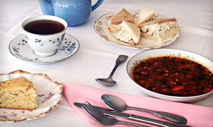 Tea with Tracy - Seymour: Afternoon Tea with Soup, Sandwiches, and Scones for Two or Four at Tea with Tracy (Up to 52% Off)