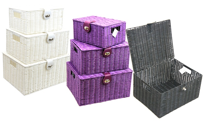 Superieur Woven Storage Box With Lid ...