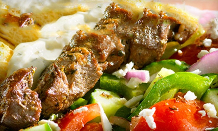 OPA! Souvlaki - South Loop: Greek Meal with Soda for Two or Four at Opa! Souvlaki in Bloomington (52% Off)