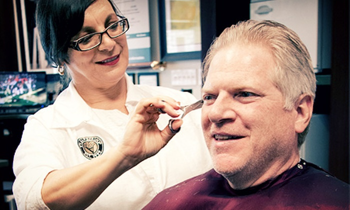 V's Barbershop - Downtown: Men's Haircut and Straight-Razor Shave With or Without Facial and Shoeshine at V's Barbershop (Up to 55% Off)