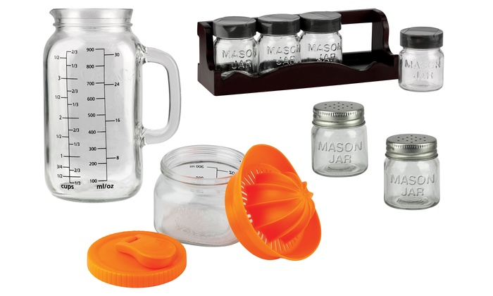 Mason Jar Kitchen Accessories Groupon Goods