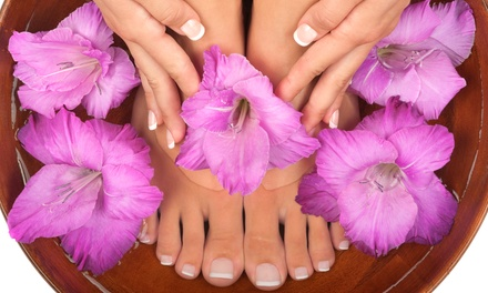 $45 for a Mani-Pedi Spa Package with Paraffin Dip at Metropolis Salon ($100 Value)