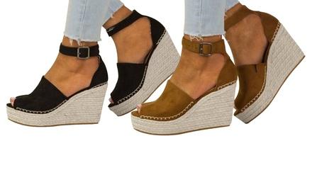 Sandales talons compensés