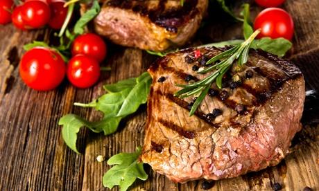 3-Gänge-Menü mit Steak oder Lachs für 1 oder 2 Personen im Restaurant La Bora