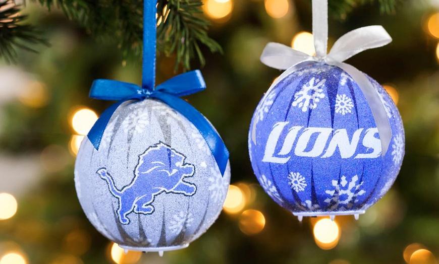 Nfl 6 Pack Led Christmas Ornaments
