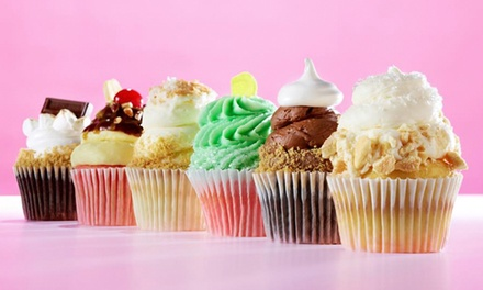 Two Dozen Mini Cupcakes or Six Large Cupcakes at Gigi's Cupcakes (Up to 37% Off)