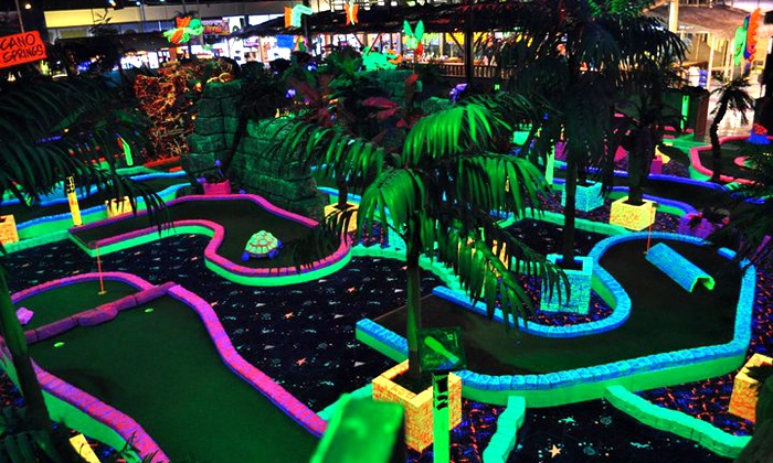 Safari Sam's - Sherwood: Jungle Gym Admission with Bouncer and Mini Golf for Two at Safari Sam's (Up to 50% Off). Two Options Available.