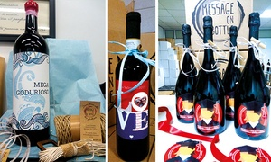 Message ON A Bottle: 6 o 12 bottiglie di Spumante creata ad hoc da un Designer consegnate in 48h con Message ON a Bottle
