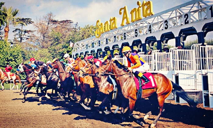 Santa Anita Park - Santa Anita Park: Horse-Racing Package for Two or Four with Clubhouse Admission and Box Seats at Santa Anita Park (Up to 60% Off)