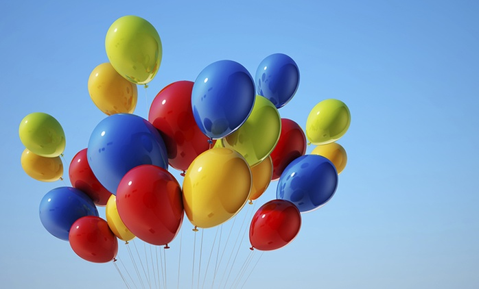 Helium Balloons - Twenty ($20), Forty ($40), or Sixty ($60) from The Party People, Two Locations (Up to $105 Value)