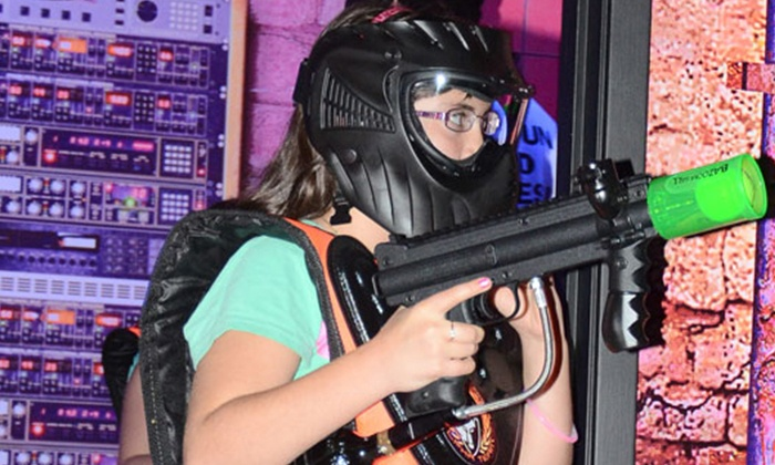 Jumbo Jungle - Ashburn: Soft-Pellet Paintball and Trampoline Volleyball at Jumbo Jungle  (Up to 51% Off). Five Options Available.