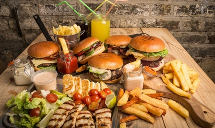 Takeaway Burger, Chips and Drink for One, Two or Four from O Burger (Up to 48% Off)
